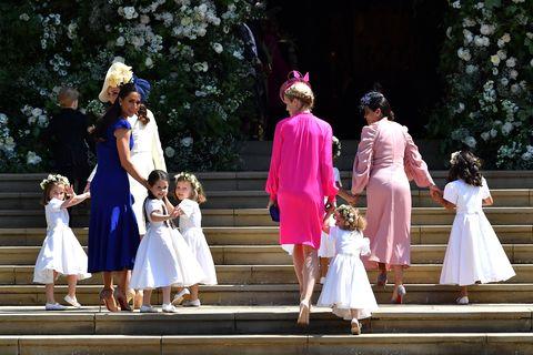 Photograph, Child, Event, Ceremony, Dress, Pink, Fashion, Bride, Bridal clothing, Wedding,