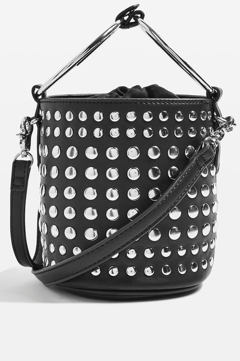 Bag, Handbag, Fashion accessory, Shoulder bag, Pattern, Hobo bag, Design, Material property, Font, Black-and-white,