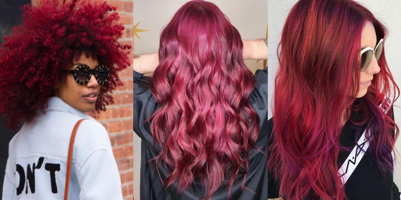Burgundy hair ideas wine red maroon hair inspiration urmus Images