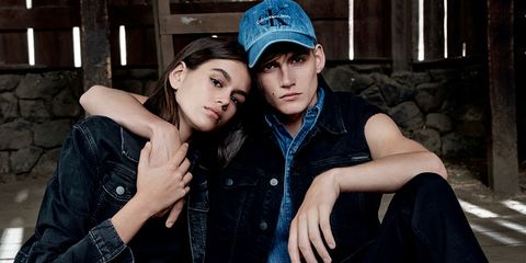 Fashion, Cool, Friendship, Interaction, Headgear, Flash photography, Photography, Denim, Jeans, Textile,