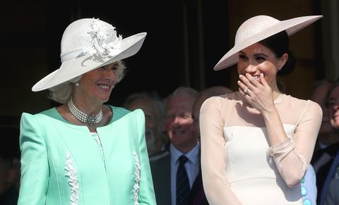 dbfd53bc3 Meghan Markle Held Hands with Camilla, Duchess of Cornwall at Prince ...
