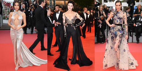 e03b4a47c63 Cannes Film Festival 2018 Naked Dresses - Naked Cannes Celeb Looks