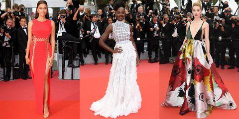 Fashion model, Red carpet, Dress, Gown, Carpet, Clothing, Flooring, Fashion, Premiere, Shoulder,