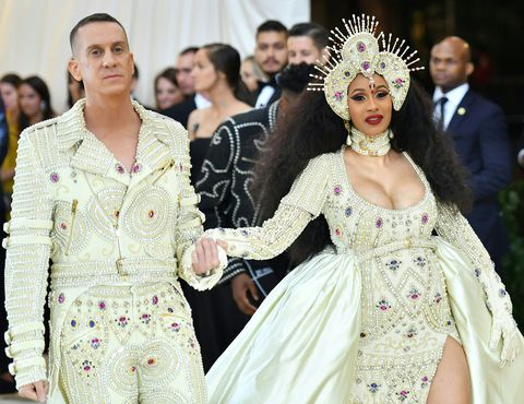 80d036fb0b8 Cardi B Came Through Dripping in Pearls for Her First-Ever Met Gala