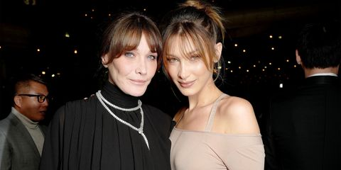 a1f3a82691 Bella Hadid and Carla Bruni Look Identical in Instagram Photo at ...