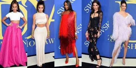 Fashion model, Clothing, Fashion, Dress, Long hair, Electric blue, Carpet, Red carpet, Formal wear, Crop top,