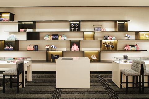 Shelf, Shelving, Furniture, Bookcase, Building, Room, Interior design, Table, Wall, Desk,