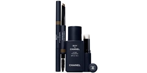 Chanel Is Launching a Makeup Line For Men - Chaney Boy de Chanel Foundation, Eyebrow Pencil, Lip Balm