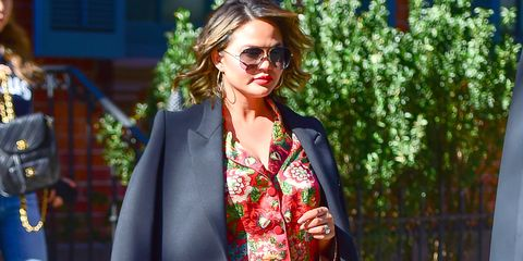 d68a073b8 Chrissy Teigen s Best Maternity Looks - Chrissy Teigen Pregnancy Style
