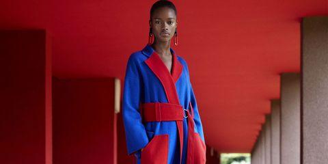 Blue, Red, Clothing, Robe, Electric blue, Uniform, Martial arts uniform, Costume,