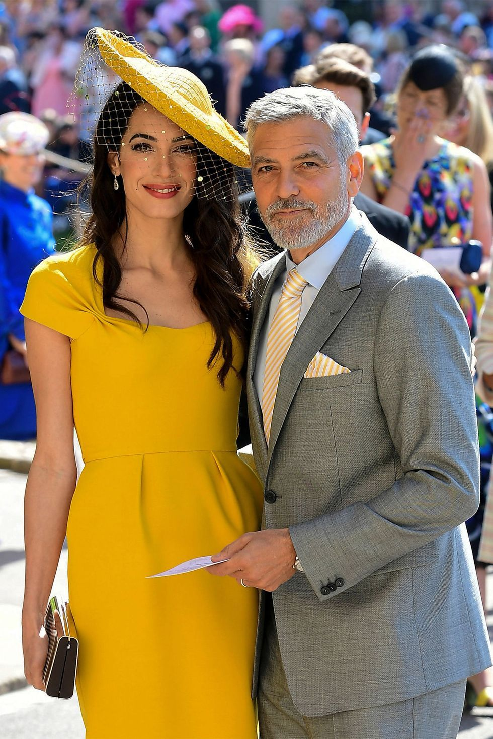 In 2014, the world was shocked when famed bachelor George Clooney, then 52 years old, announced his engagement to international human rights lawyer, then 35-year-old Amal Alamuddin. The couple officially tied the knot in September of 2014 ( just a year after they met ) with a beautiful Venetian wedding , and welcomed two children , twins Ella and Alexander, in June of 2017.