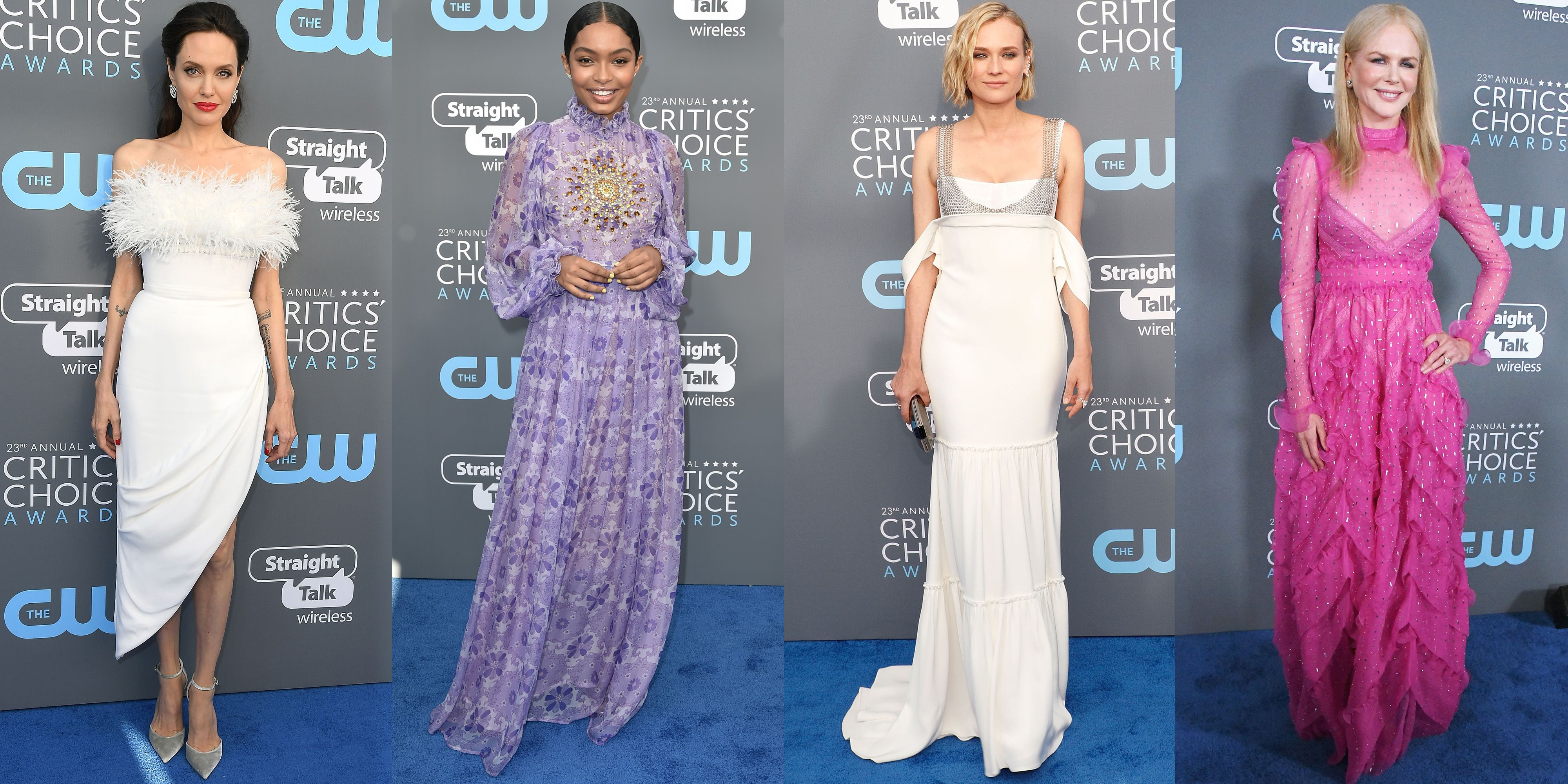 Women Embrace Spring Colors at Critics' Choice Awards After Golden Globes Blackout