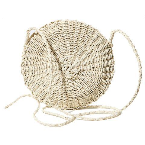 Basket, Storage basket, Wicker, Circle, Home accessories,