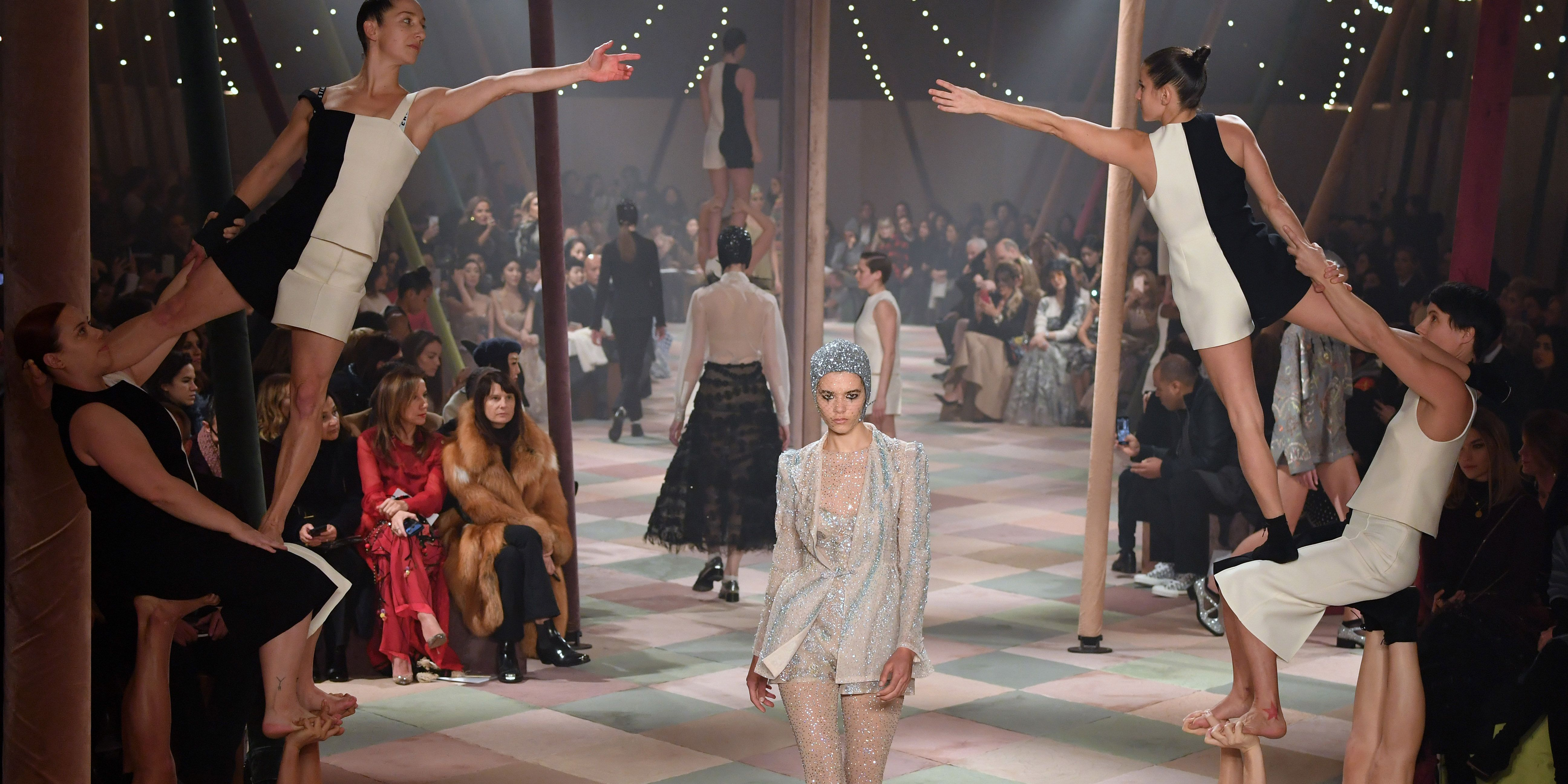 4ceb05f62e80e Dior s Circus-Themed Runway Had a Live Acrobatic Performance at Paris  Couture Week
