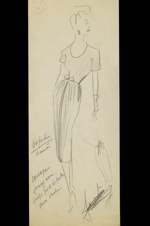 Drawing, Sketch, Figure drawing, Standing, Fashion illustration, Art, Artwork, Illustration, Costume design, Line art,