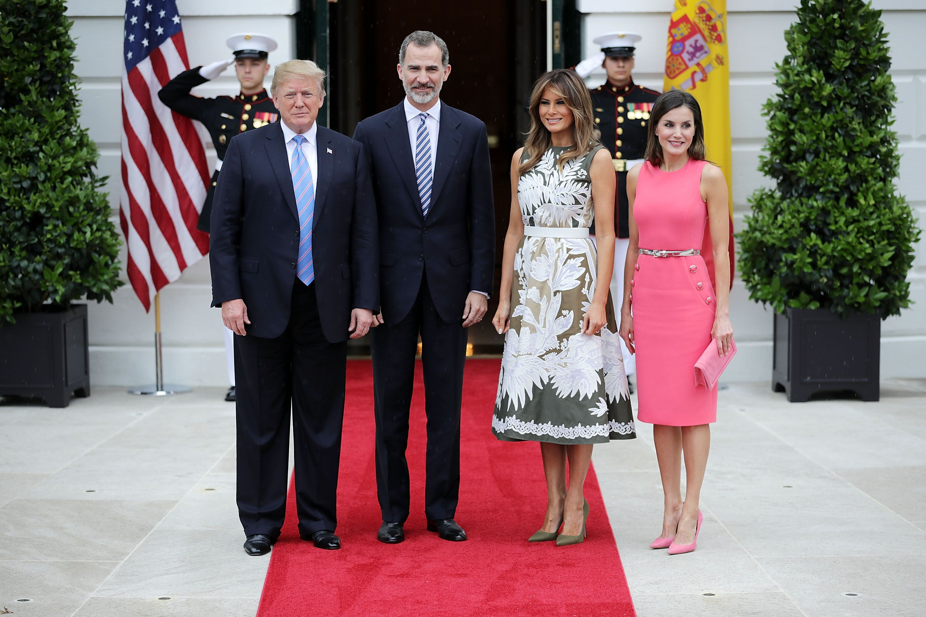 a6bc176d6827 Queen Letizia and King Felipe of Spain Meet the Trumps at the White House