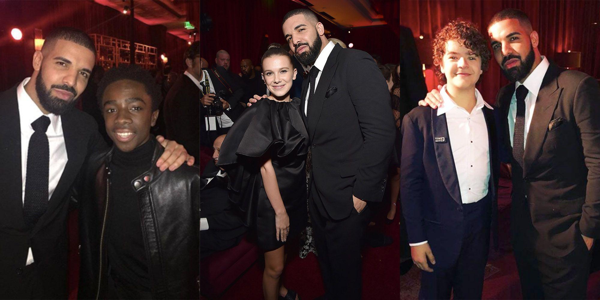 Drake Hangs Out With Stranger Things Kids At Golden Globes Drake