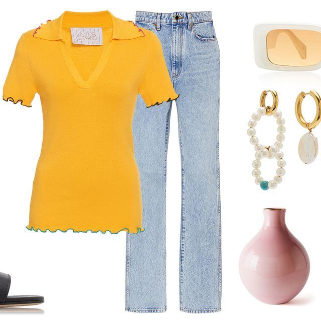 Clothing, White, Yellow, Dress, Orange, Pink, Sleeve, Fashion, Peach, Footwear,