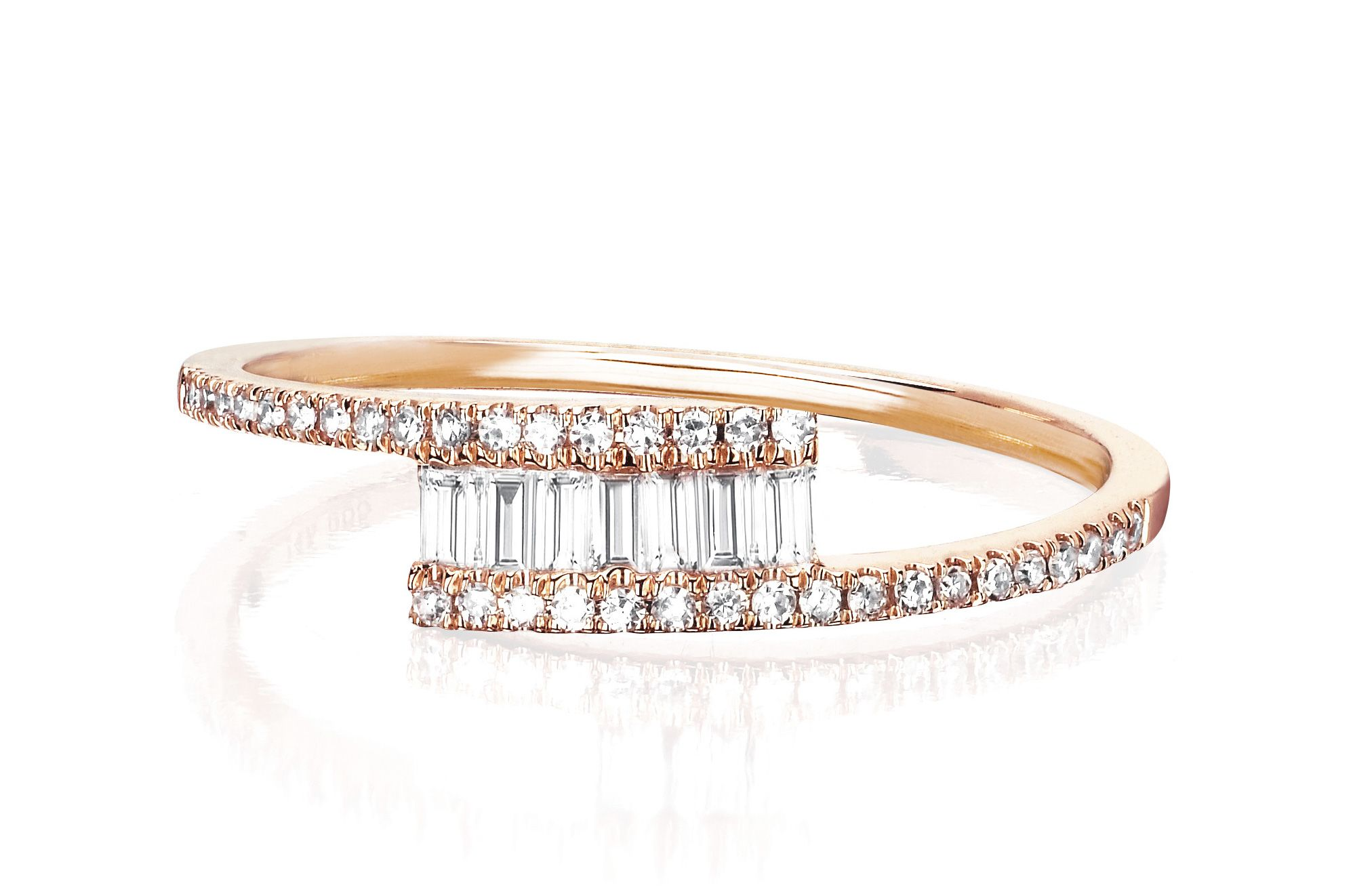 the braided engagement layered ring five forevermark collection rings tribute jewelry stone