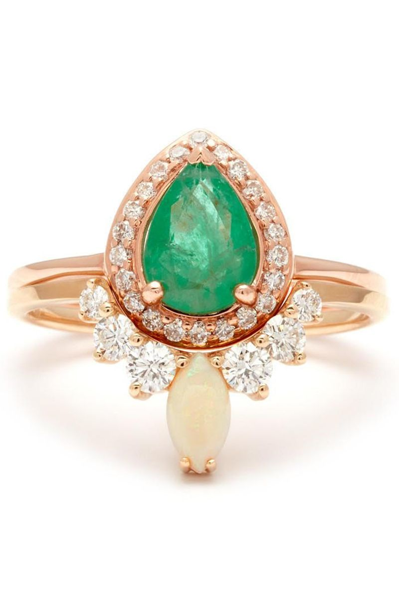 Fabelhaft 41 Unique Emerald Engagement Rings - Beautiful Green Emerald #YZ_33