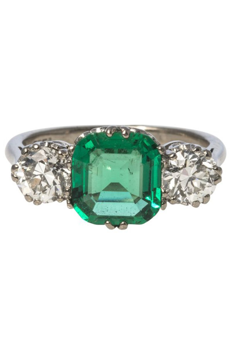41 Unique Emerald Engagement Rings Beautiful Green