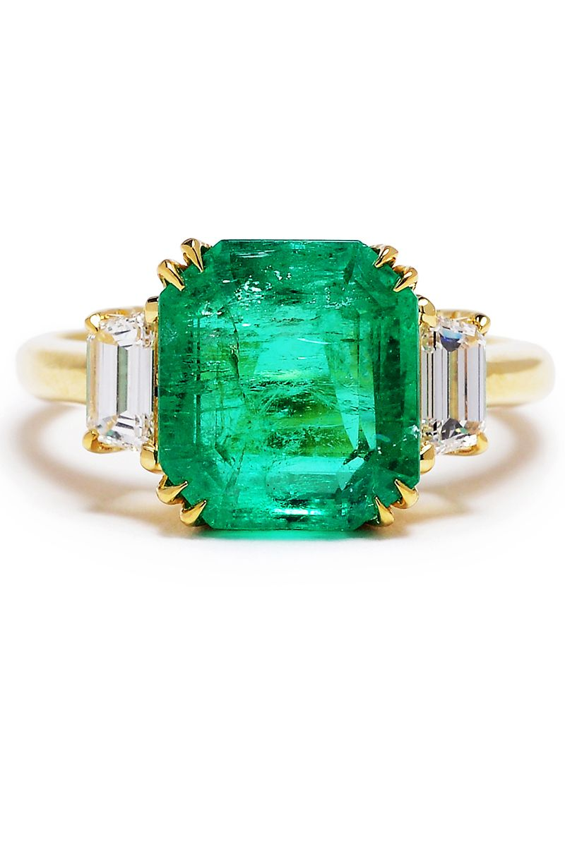 84808f18f 41 Unique Emerald Engagement Rings - Beautiful Green Emerald Engagement  Rings