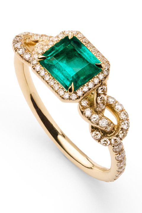48 Unique Emerald Engagement Rings Beautiful Green