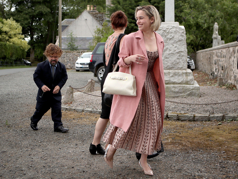 emilia clarke pink dress