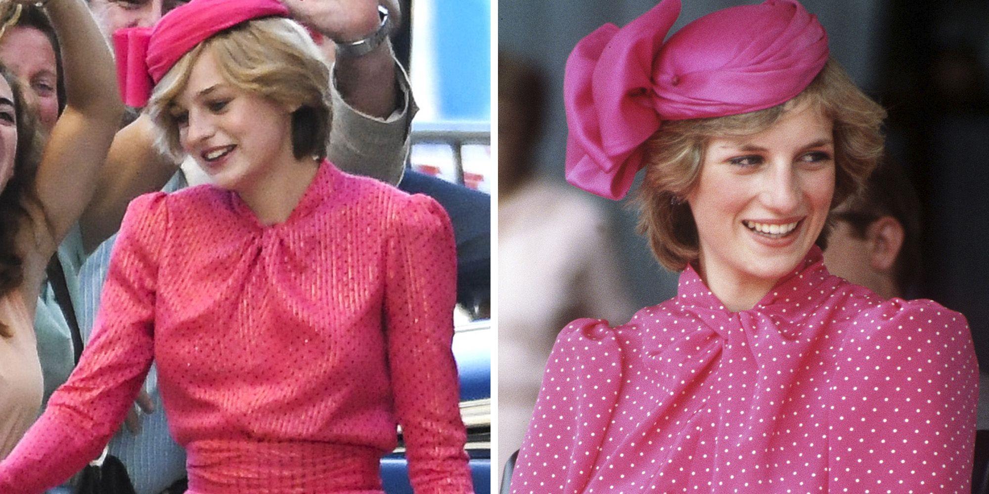 Princess Diana Wears Pink In The Crown Season 4 Photo