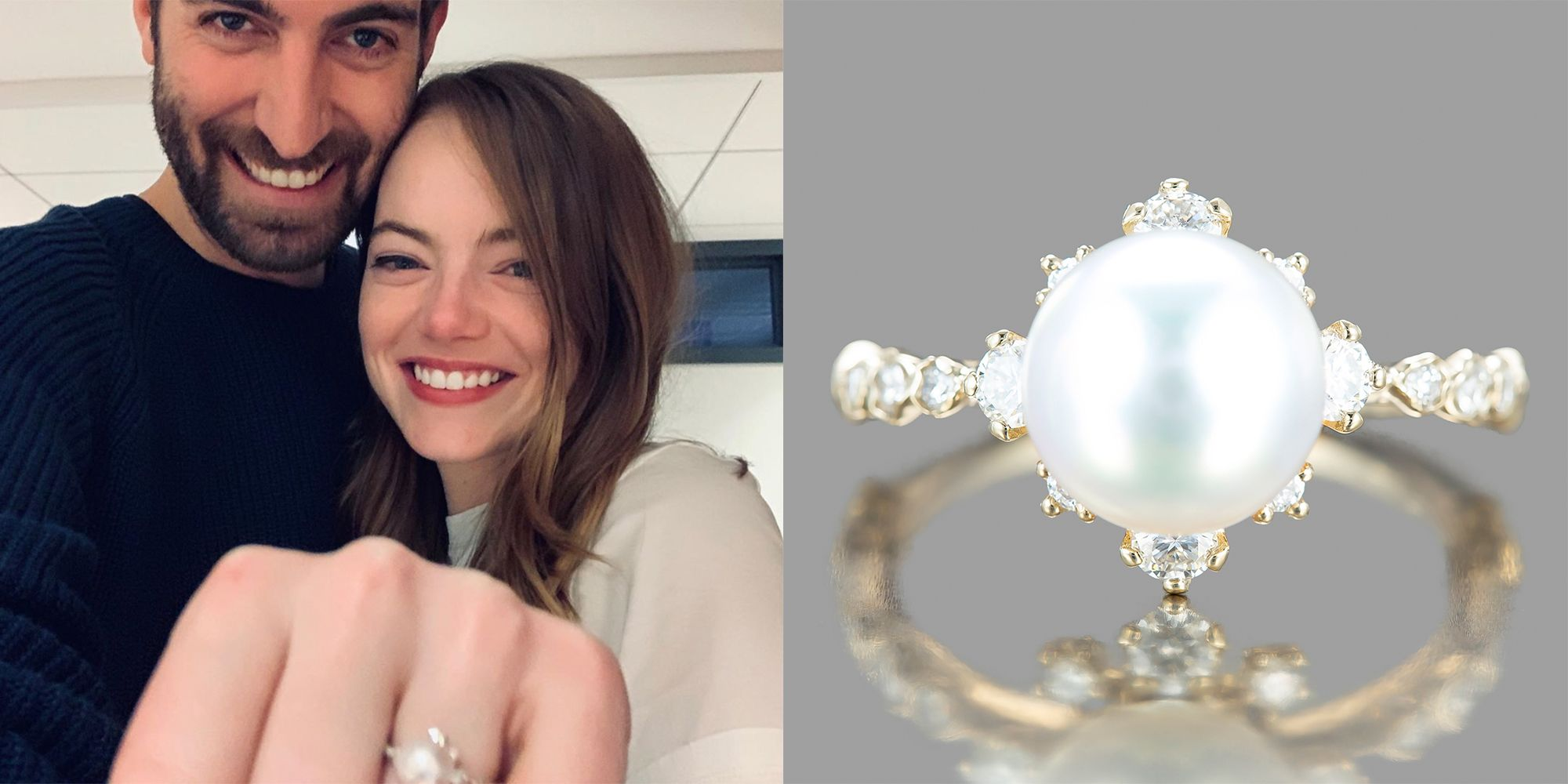 Emma Stone S Pearl Engagement Ring Details And Photos