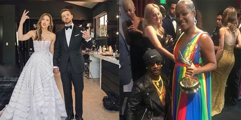 The Emmys' Best Celebrity Action Went Down on Instagram