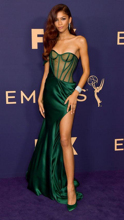 Zendaya Dress Emmy Awards 2019 - Zendaya Green Corset Vera Wang