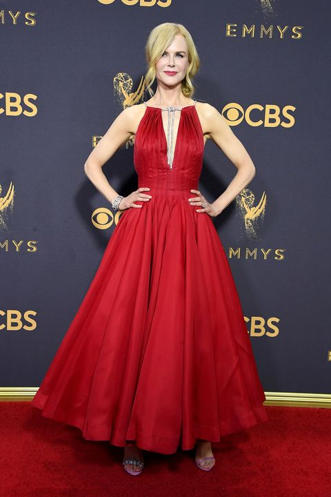 Red carpet, Carpet, Dress, Clothing, Gown, Red, Flooring, A-line, Premiere, Hairstyle,
