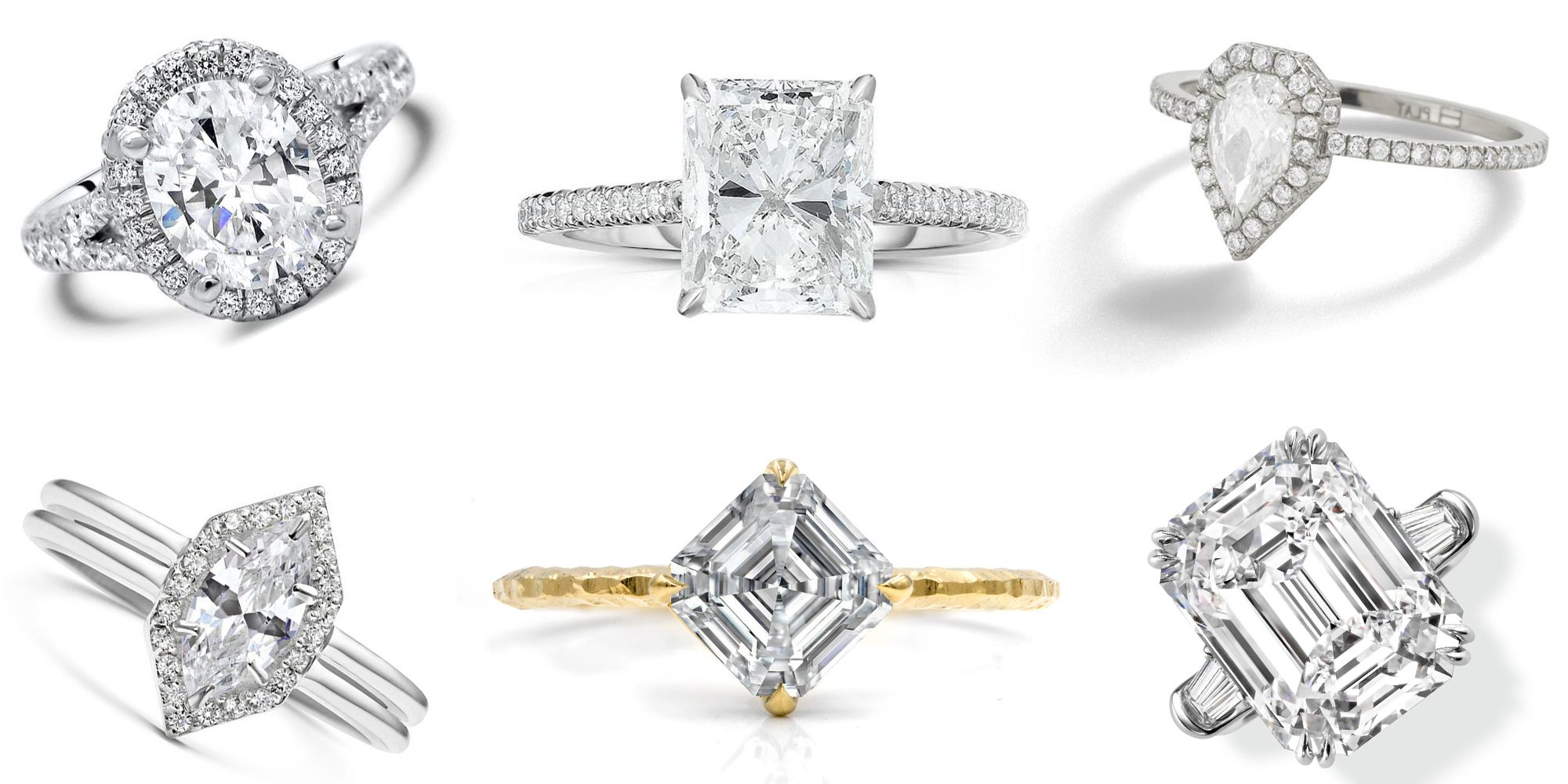 Your Guide To Engagement Ring Cuts And The Celebrity Brides That