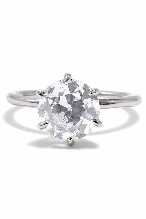 Solitaire Ring With Diamond Wedding Band
