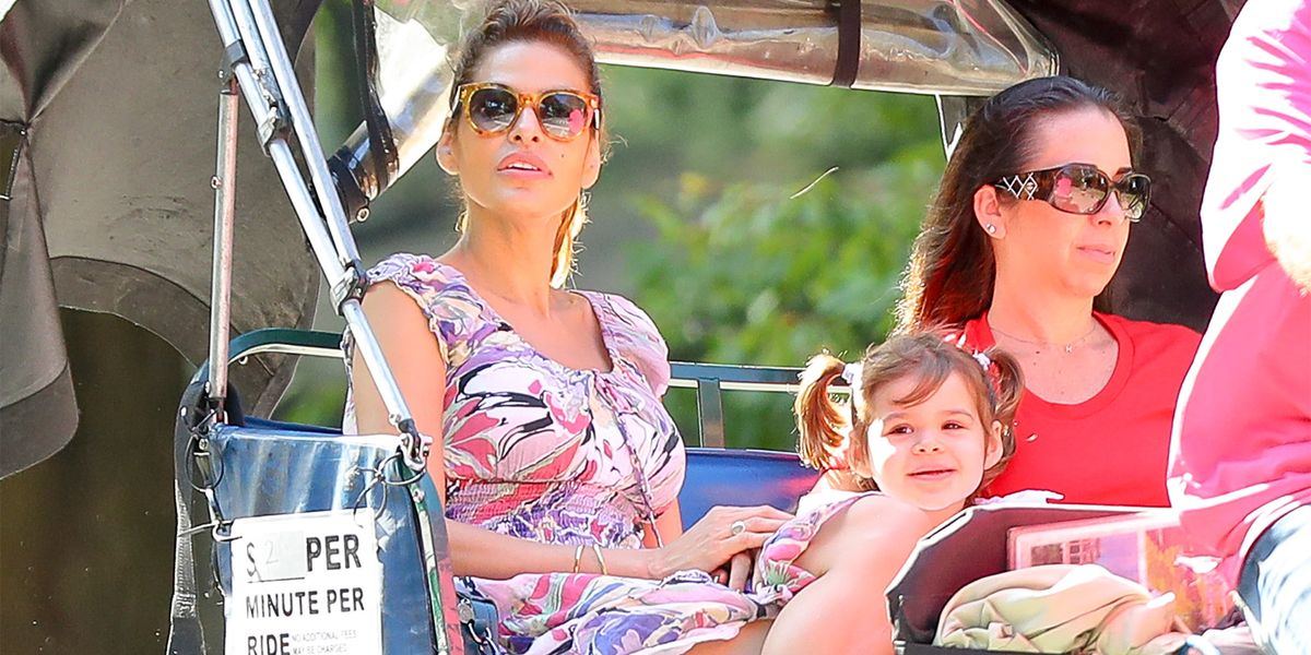 Eva Mendes Takes A Ride With Her And Ryan Gosling S Daughter