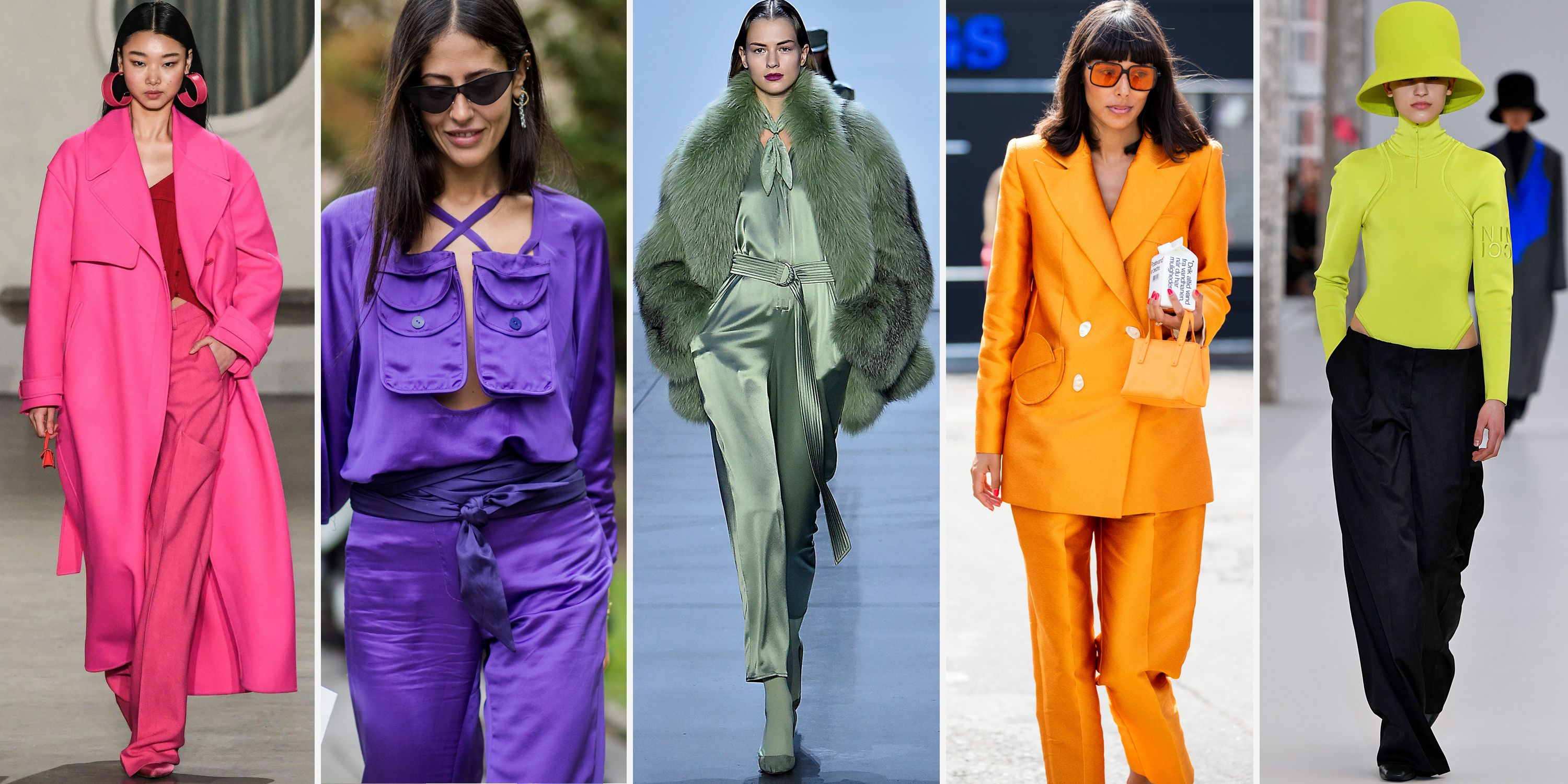 5 Top Fall Color Fashion Trends 2019 - Pistachio and Purple Color ...