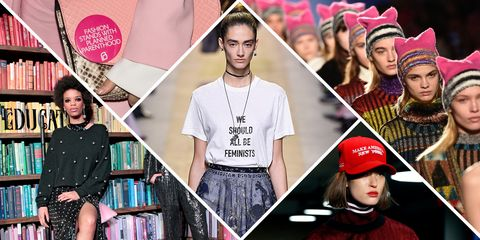 should fashion designers sell you feminism politics on the runway