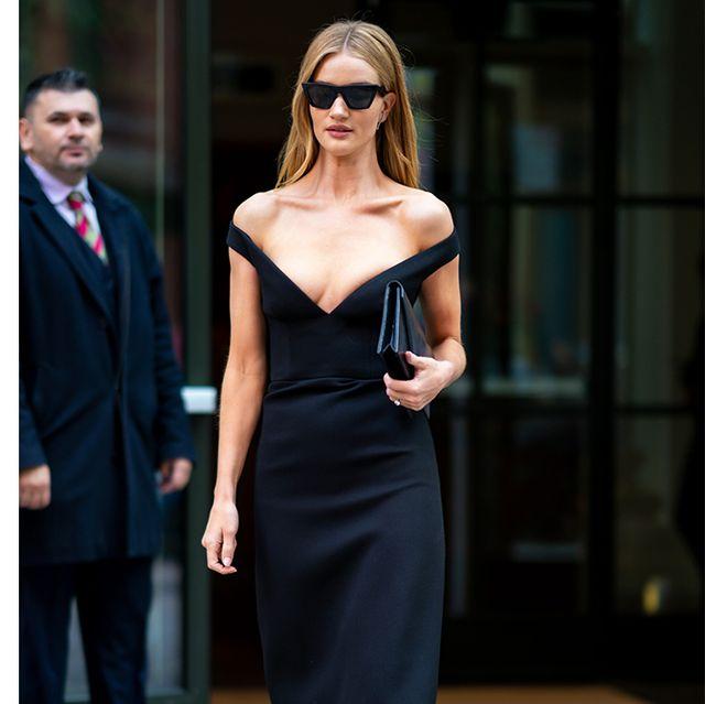 Fashion model, Clothing, Shoulder, Dress, Little black dress, Eyewear, Fashion, Cocktail dress, Joint, Neck,