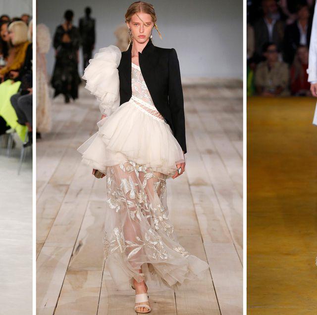 Fashion model, Fashion, Clothing, Haute couture, Runway, Dress, Footwear, Outerwear, Fashion design, Shoe,