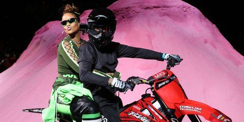 8f84619d9cc9b Rihanna Hosts Motorcycle-Themed Fashion Show - Fenty Puma Spring 2018