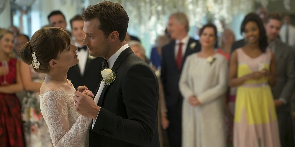 54f1d8dca Everything You Need to Know About Anastasia Steele's Wedding Gown in Fifty  Shades Freed.