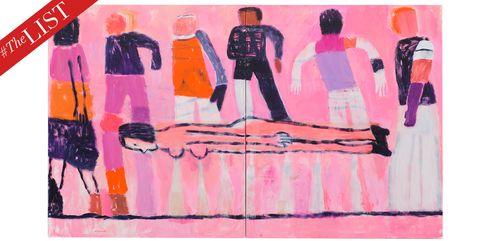 Pink, Art, Magenta, Modern art, Painting, Illustration, Visual arts, Drawing, Style,