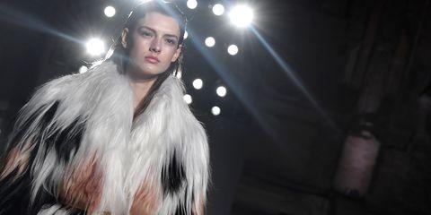 Hair, Fur, Fur clothing, Fashion, Beauty, Hairstyle, Lip, Performance, Fashion model, Fashion design,