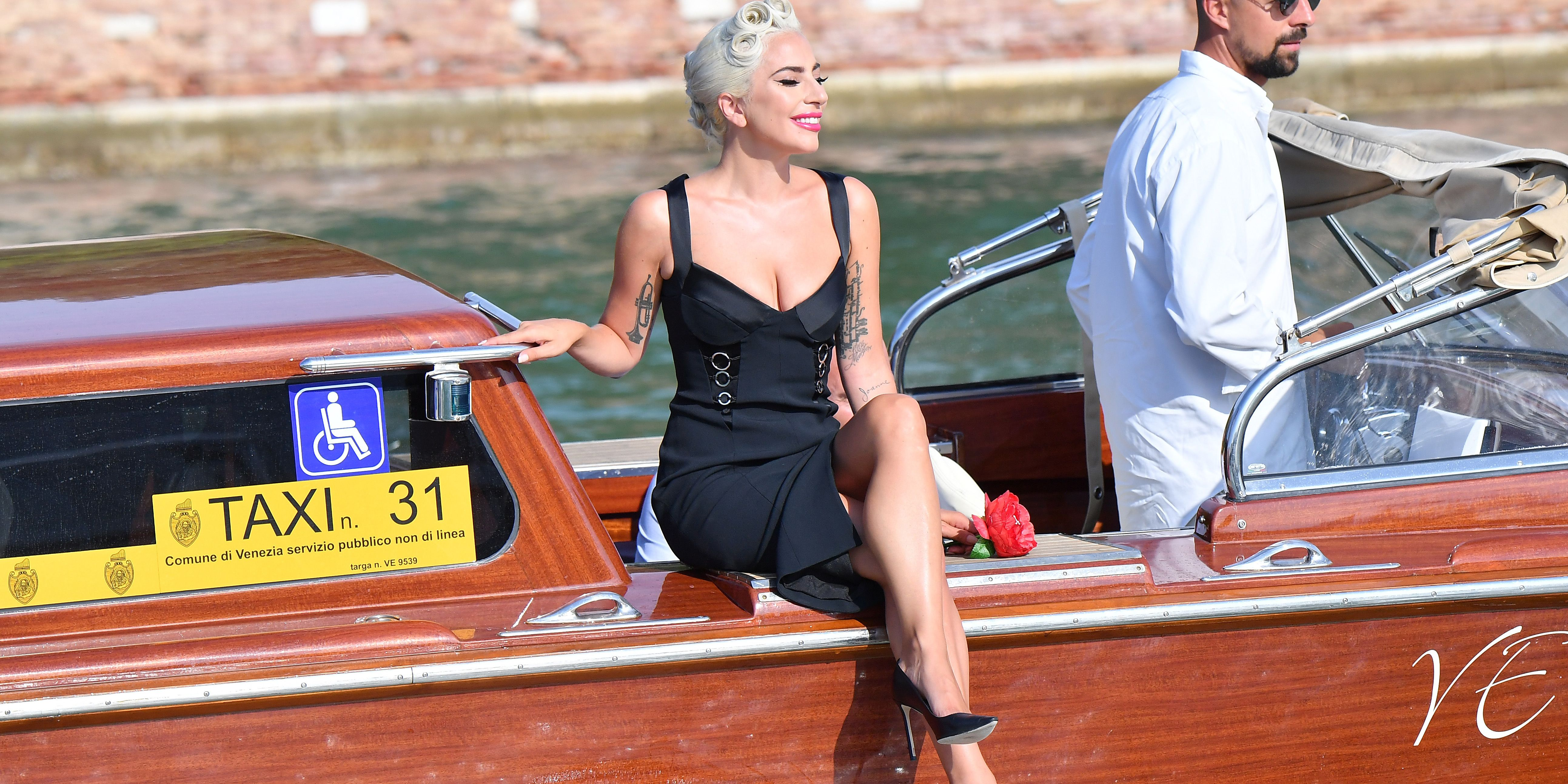 Lady Gaga S Boat Ride To Venice Film Festival Was An Inspiring Level Of Extra