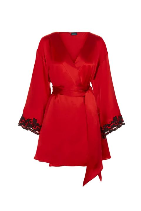 Clothing, Red, Sleeve, Dress, Robe, Outerwear, Cocktail dress, Day dress, Coat, Costume,