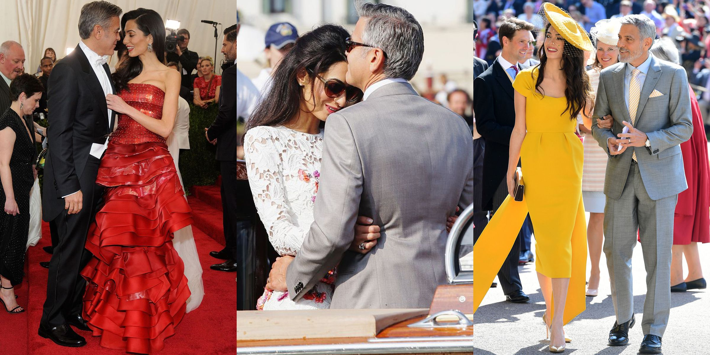 George and Amal Clooney's Cutest Moments - Photos of George and Amal