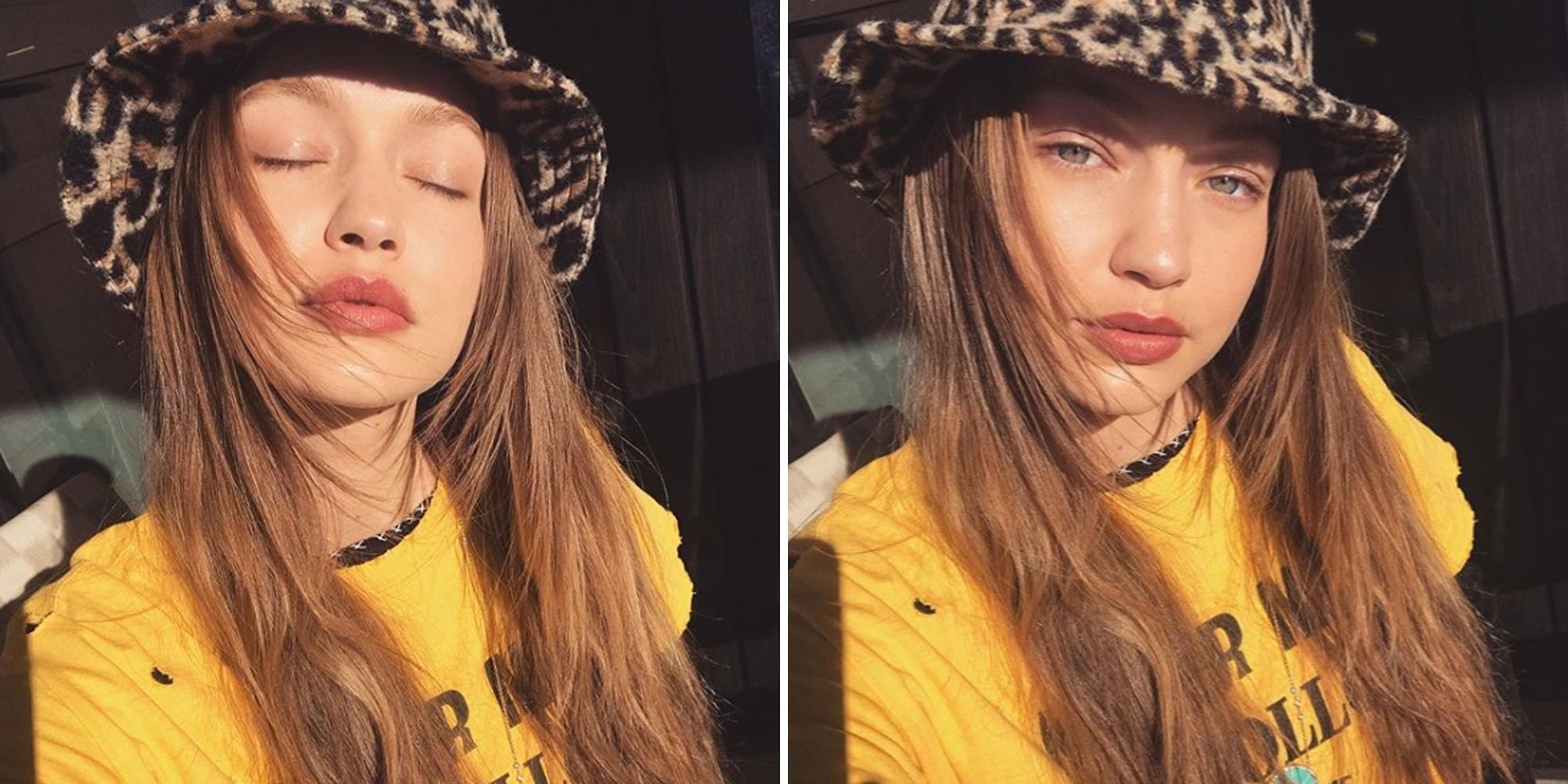 Gigi Hadid Leopard Bucket Hat Shop Bucket Hats Fashion Trend