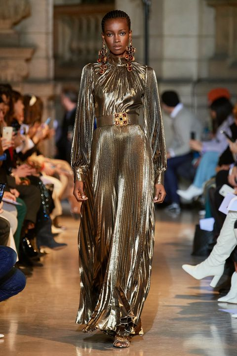 andrew gn gold dress