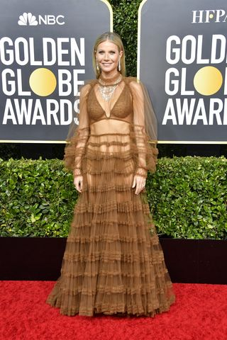 Image result for Golden Globes 2020 Gwyneth Paltrow dress